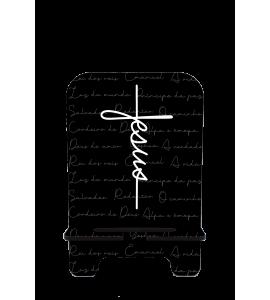 Porta-Celular Personalizado - GOSPEL 186 -  Jesus estilo cruz