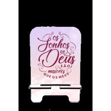 Porta-Celular Personalizado - JUNINHO BLACK 03 - OS SONHOS DE DEUS SÃO MAIORES QUE OS MEUS
