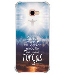 Capinha de celular (tpu premium) - Gospel 12 - Os que esperam no Senhor renovam suas forças
