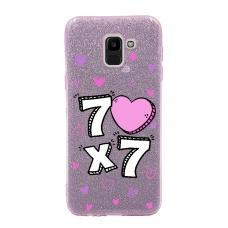 Capinha para celular Glitter Rosa R 163