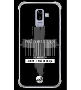 Capinha de celular - 1 Preto no Branco 08 - Jesus pagou o preço