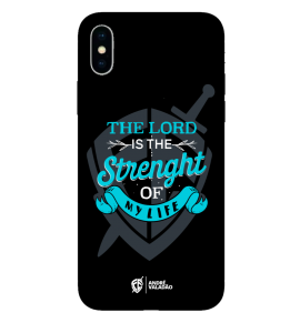 Capinha de celular (tpu premium) - André Valadão 04 - The Lord is the strehgt of my life