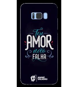 Capinha de celular (tpu premium) - André Valadão 14 - Teu amor não falha