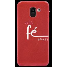 Capinha para celular Glitter Vermelha - 171 Fé