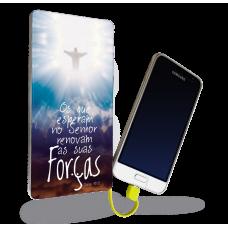 CARREGADOR PORTÁTIL - GOSPEL 12 - Os que esperam no Senhor renovam sua Forças