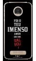 Capinha de celular (tpu premium) - Novidade de Vida 01 - Foi Teu Imenso Amor Que Me Salvou