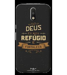 Capinha de celular (tpu premium) - Novidade de Vida 03 - Deus És Meu Refúgio e Fortaleza