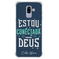 Capinha para celular - Esther Marcos 02 - Estou Conectada com Deus