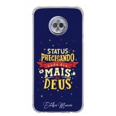 Capinha para celular - Esther Marcos 08 - Status: Precisando cada dia mais de Deus