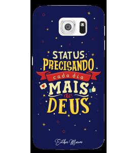 Capinha de celular (linha premium) - Esther Marcos 08 - Status: Precisando cada dia mais de Deus