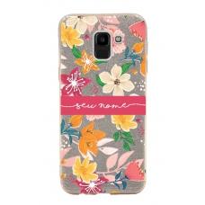 Capinha para celular Glitter Dourada Florais 10