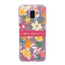 Capinha para celular Glitter Rosa Florais 10
