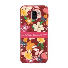 Capinha para celular Glitter Vermelha Florais 10