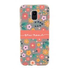 Capinha para celular Glitter Dourada Florais 7