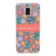 Capinha para celular Glitter Prata Florais 7