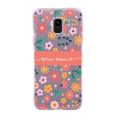 Capinha para celular Glitter Rosa Florais 7