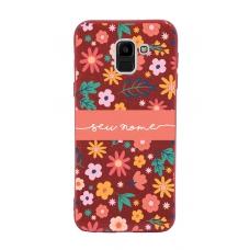 Capinha para celular Glitter Vermelha Florais 7