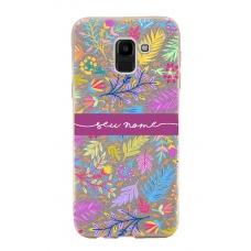 Capinha para celular Glitter Dourada Florais 9