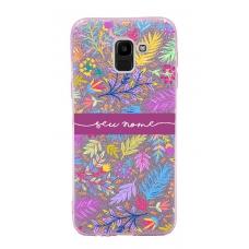 Capinha para celular Glitter Rosa Florais 9