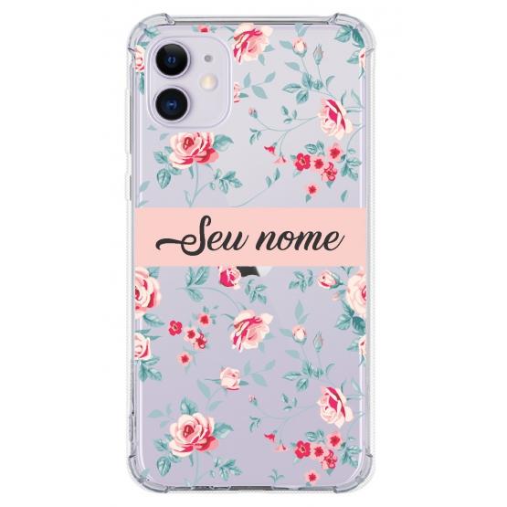 Capinha para celular - Personalizada com nome - Flores 05