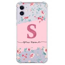 Capinha para celular - Personalizada com nome - Flores 08