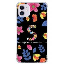 Capinha para celular - Personalizada com nome - Flores 21