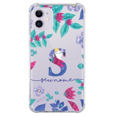 Capinha para celular - Personalizada com nome - Flores 24