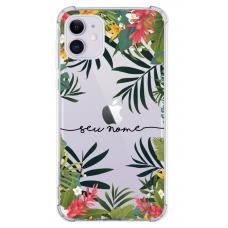 Capinha para celular - Personalizada com nome - Flores 30