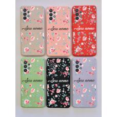 Capinha Silicone Case - Personalizada - Flores 02
