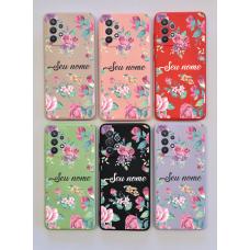 Capinha Silicone Case - Personalizada - Flores 03