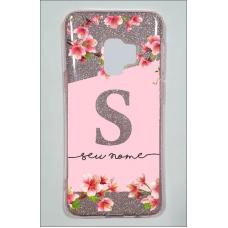 Capinha para celular Glitter Rosa Flores 12
