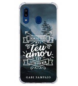 Capinha de celular (linha premium) - Gabi Sampaio 11 - Inimigo eu fui mas teu amor lutou por mim.