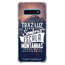 Capinha para celular - Gabi Sampaio 13 - Traz luz para sombras escalas montanhas pra me encontrar