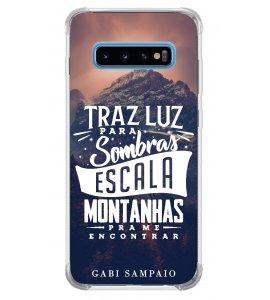 Capinha de celular (linha premium) - Gabi Sampaio 13 - Traz luz para sombras escalas montanhas pra me encontrar
