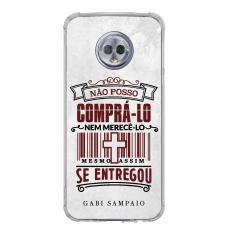 Capinha para celular - Gabi Sampaio 09 - Não posso comprá-lo nem merecê-lo