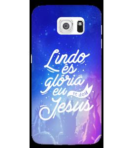 Capinha de celular (tpu premium) - GOSPEL 180 - Lindo és, glória eu te dou Jesus