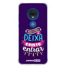 Capinha para celular - JUNINHO BLACK 01 - ABRA A PORTA E DEIXA CRISTO ENTRAR