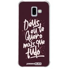Capinha para celular - JUNINHO BLACK 05 - DEUS EU TE QUERO MAIS QUE TUDO