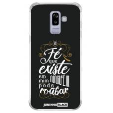 Capinha para celular - JUNINHO BLACK 08 - A FÉ QUE EXISTE EM MIM NINGUEM PODE ROUBAR