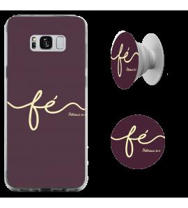 Kit capinha de celular (tpu premium) + Pop - Fé - 168
