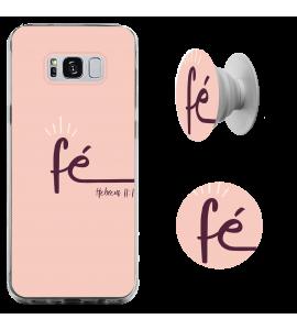 Kit capinha de celular (tpu premium) + Pop - Fé - 171