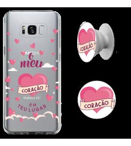 Kit Capinha para celular (tpu premium) + Pop - CH 15 - O meu coração é o teu lugar