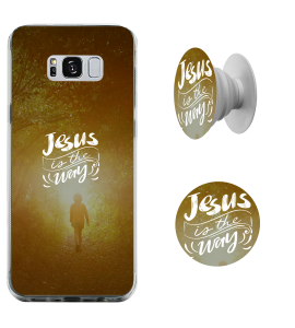 Kit capinha de celular + Pop-Selfie - Esther Marcos 05 - Jesus is the way