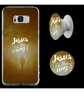 Kit capinha de celular + Pop-Selfie - Esther Marcos 05 - Jesus is the way
