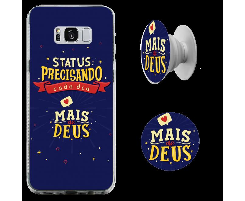 Kit capinha de celular (tpu premium) + Pop - Esther Marcos 08 - Precisando cada dia mais de Deus