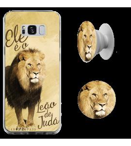 Kit capinha de celular (tpu premium) + Pop - Gabi Sampaio 03 - Ele é o Leão de Judá