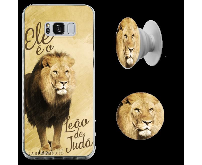 Kit capinha de celular + Pop-selfie - Gabi Sampaio 03 - Ele é o Leão de Judá