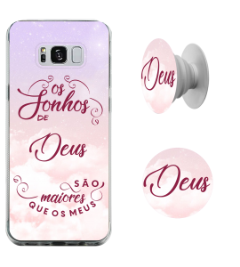 Kit capinha para celular (tpu premium) + POP - Juninho Black 03 - Os sonhos de Deus são maiores