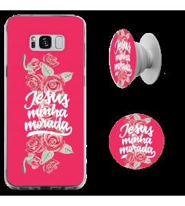 Kit capinha para celular (tpu premium) + Pop - Isadora Pompeo 14 - Jesus Minha Morada