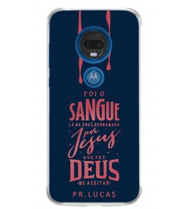 Capinha de celular (tpu premium) - Pastor Lucas 01 - Foi o sangue lá na cruz
